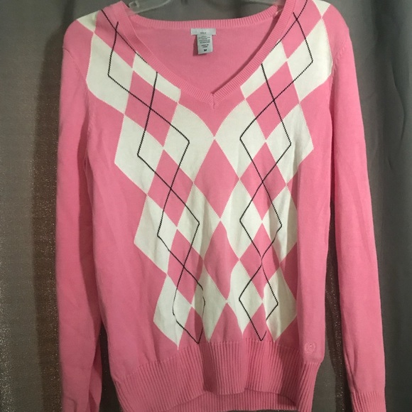 Izod Sweaters - Izod Pink Argyle Sweater